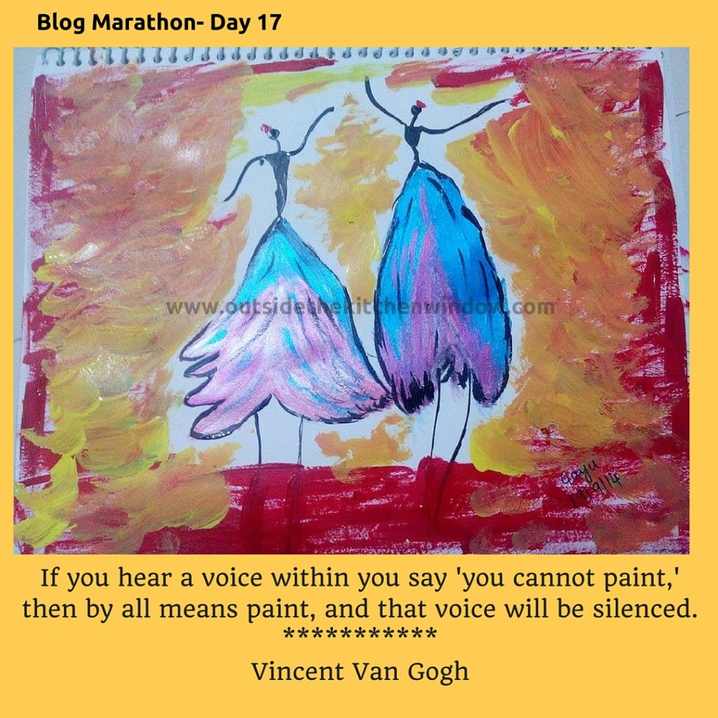 If you hear a voice within you say 'you cannot paint,' then by all means paint, and that voice wil